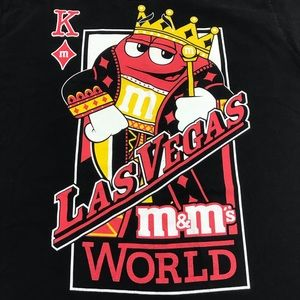 M&M's World Las Vegas T Shirt Men's L / M black